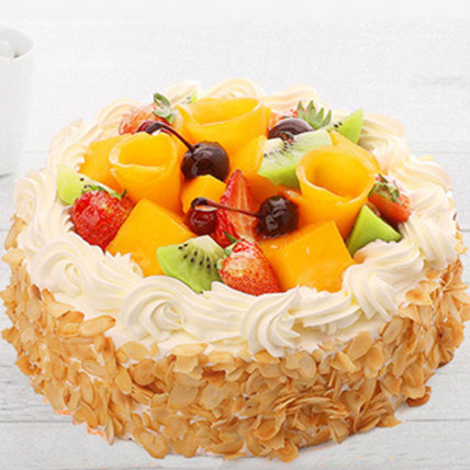 Delicious Fruit Cream Cake: Send Cakes to China