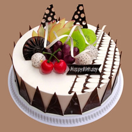 Fresh Fruit Chocolate Cake: Send Cakes to China