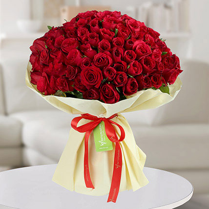 150 Red Roses Bunch: Premium Flowers