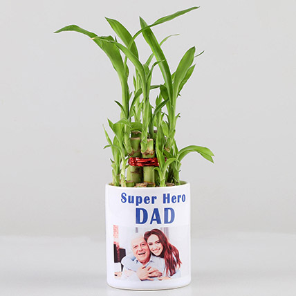 2 Layer Bamboo in Personalised Super Hero Dad Mug: Personalized Fathers Day Gifts 2019