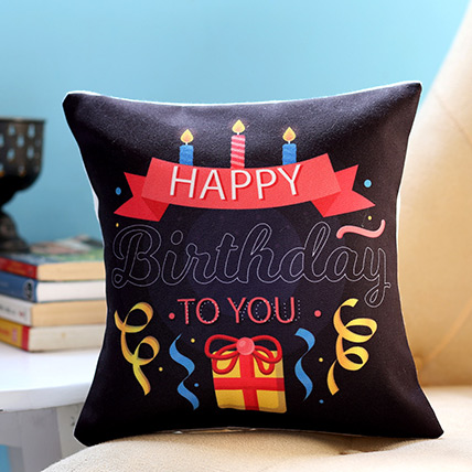 Birthday Candles and Gift Cushion: Personalized Gifts
