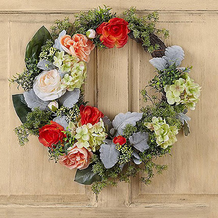 Bright Floral Wreath: Funeral & Sympathy Flowers