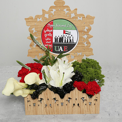 Carnations and Lilies in Basket: Flowers for National Day