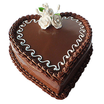 Choco Heart Cake: Heart Shape Cakes for Valentine Day