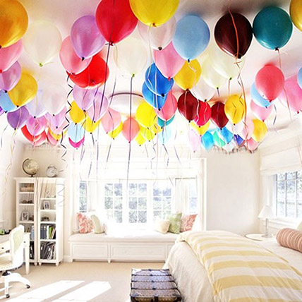 Colourful Helium Balloon Decor: Balloon Decorations