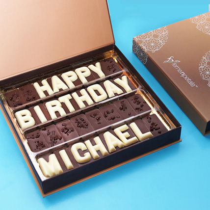 Customized Birthday Chocolate: Chocolates for Him