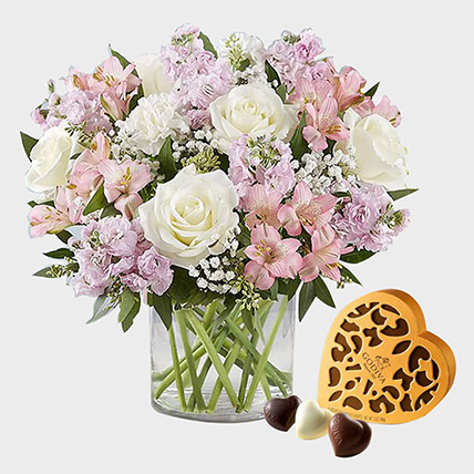 Exotic Blossoms and Godiva Chocolate Box: Gifts Combos