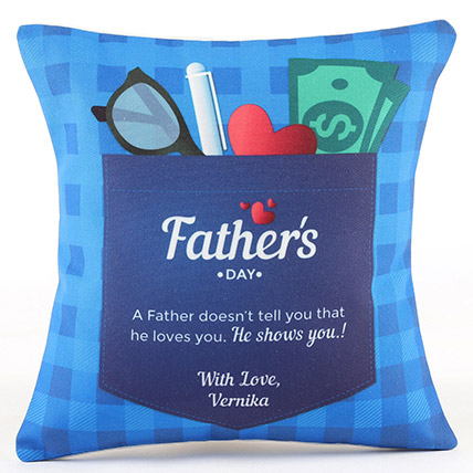 Fathers Day Special Personalised Cushion: Personalized Fathers Day Gifts 2019