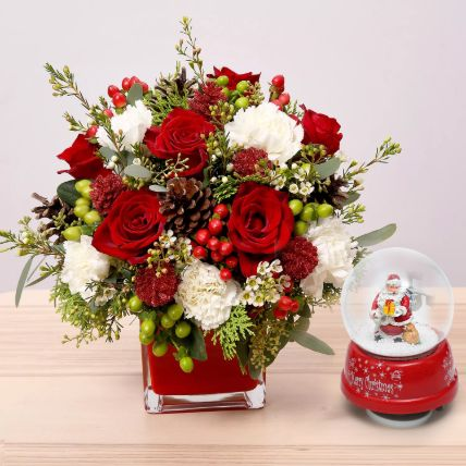 Flower Arrangement With Santa Masterpiece: Christmas Gifts 2019
