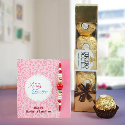 Fortunate Rakhi Hamper: American Diamond Rakhi