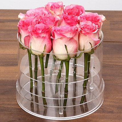 Graceful Pink Rose Box: One Hour Delivery Gifts