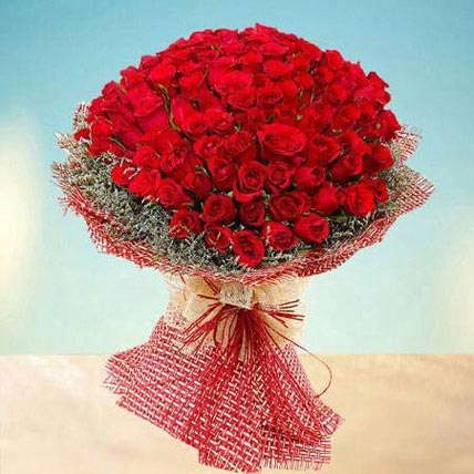 Grand 100 Red Roses: Good Luck Gifts
