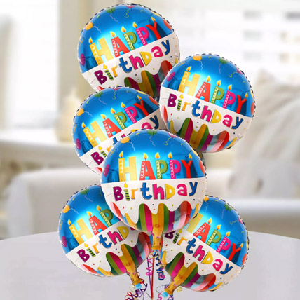 Happy Birthday Foil Balloons: Balloons