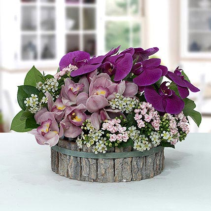 Impressive Pink N Purple Flower Arrangement: Ramadan Flowers
