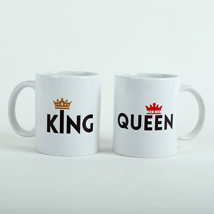 King N Queen Couple Mugs: Valentine's Day Gifts