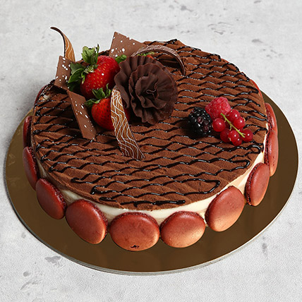 Luscious Triple Chocolate Cake: Cakes Delivery in Ajman