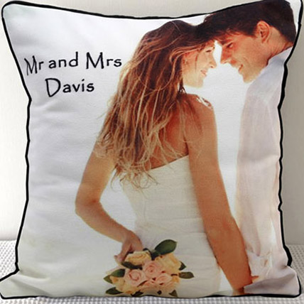 Mr N Mrs Personalized Cushion: Personalised Gifts to Fujairah