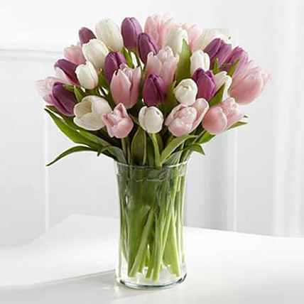 Painted Skies Tulip Bouquet: Romantic Flowers