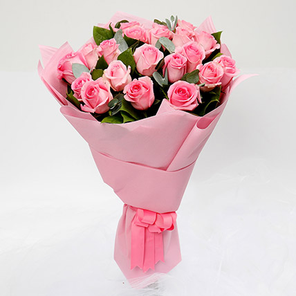Passionate 20 Pink Roses Bouquet: New Arrival Gifts