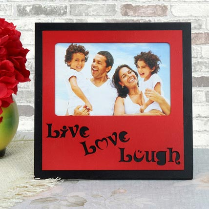 Personalized Live Love Lough Frame: Anniversary Personalised Gifts