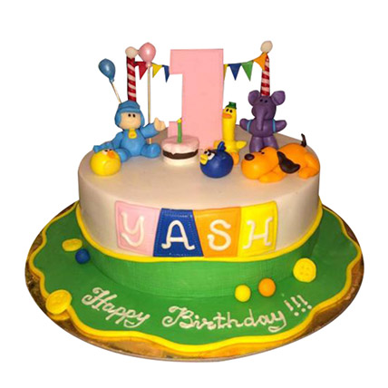 Pocoyo Cartoon Cake: Cartoon Cakes for Kids