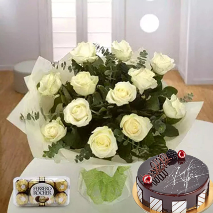 Pure Love Combo: Flowers with Chocolates