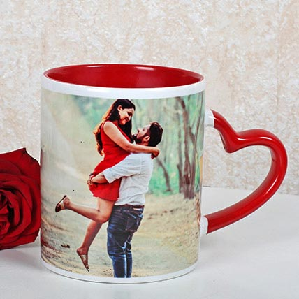 Red And White Personalized Mug: Personalized Gifts