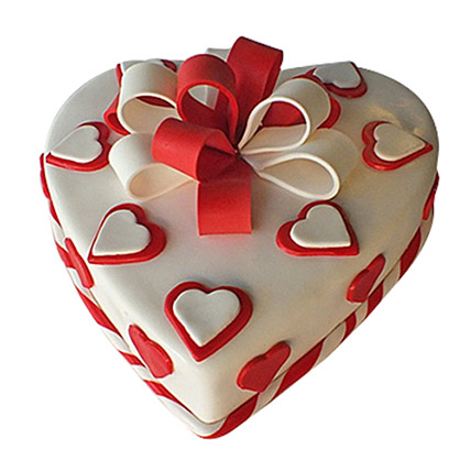 Red Ribbon Cake: Valentines Day Gifts to Ajman