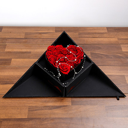 Red Roses In Folding Box: Anniversary Flower Delivery