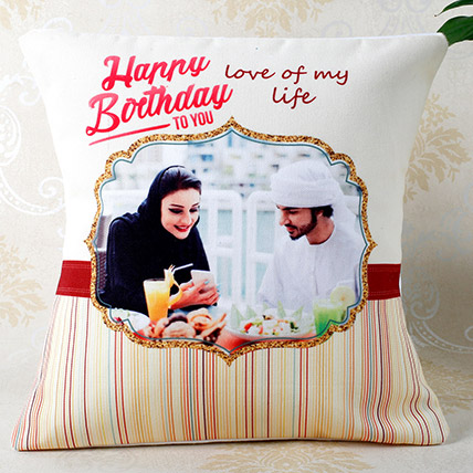 Romantic Birthday Personalized Cushion: Personalised Gifts to Fujairah