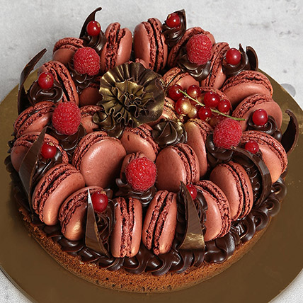 Tempting Choco Macronade Cake: Birthday Cakes for Men