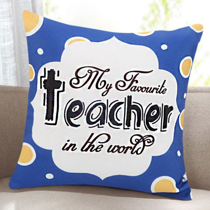 Token Of Gratitude Printed Cushion For Teacher: Teachers Day Gifts