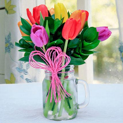 Tulip Arrangement: Fathers Day Flowers