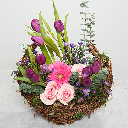 Tulips and Roses Flower Arrangement: New Year Gifts