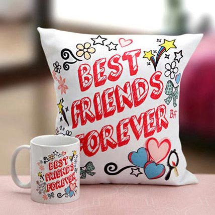 Best Friends Mug N Cushion: Friendship Day Gift Ideas
