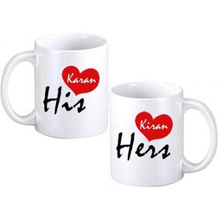 His N Hers Coffee Mugs: Personalised Mugs