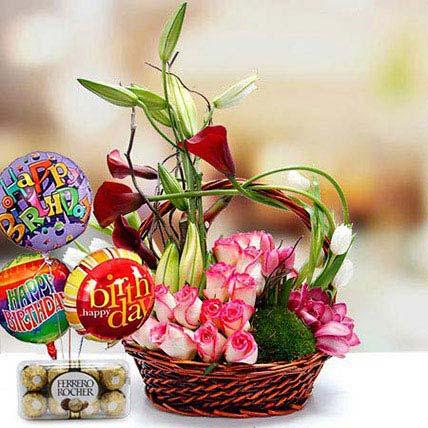 Joyful Surprise Combo: Birthday Basket Arrangements