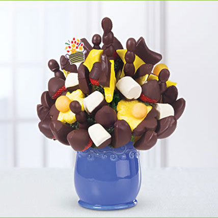 Dipped Fruit Bouquet: Halloween Gifts