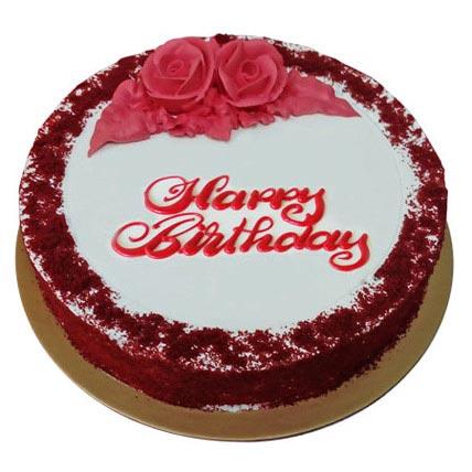Red Velvet Birthday Cake: Cakes Delivery in Umm Al Quwain