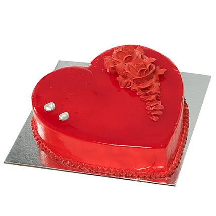 Red Heart Shape Chocolate Cake: Designer Cakes for Anniversary
