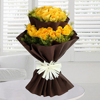 40 Yellow Roses Bunch: Order Flowers