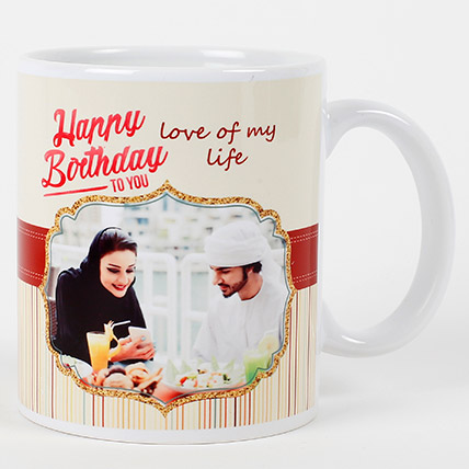 Romantic Birthday Personalized Mug: Personalized Gifts for Birthday