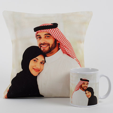 Lovable Personalized Cushion N Mug: Personalised Gifts for Parents