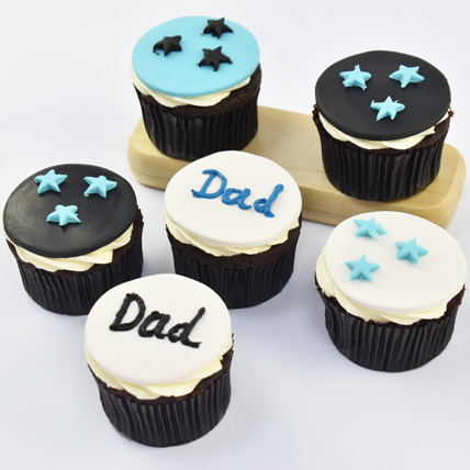 Starry Cupcakes For Dad: Birthday Cupcake