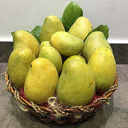 Assorted Mangoes in a basket: Fruit Baskets