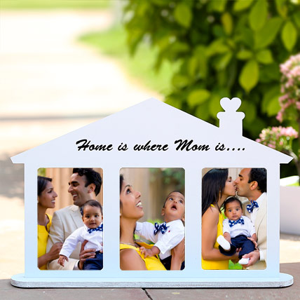 Home Shaped Personalized Frame: Personalised Photo Frames