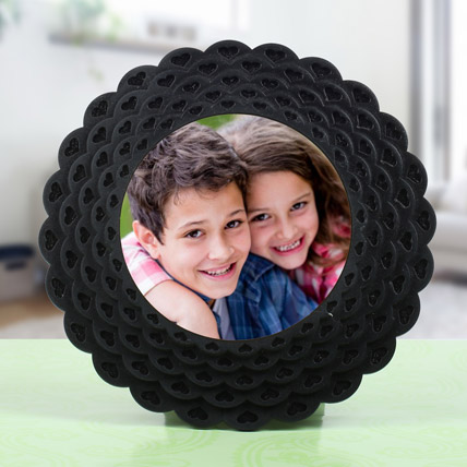 Floral Shaped Photo Frame: Personalised Photo Frames