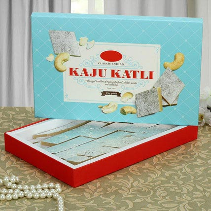 Box of Kaju Katli: Indian Sweets