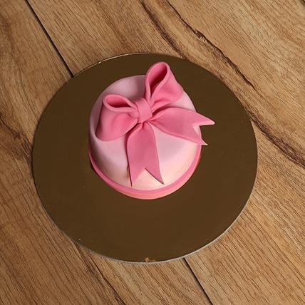 Bow Mono Cake: Cakes for Boys