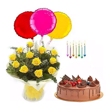 Birthday Surprise Collection 2: Flowers with Cakes to Dubai